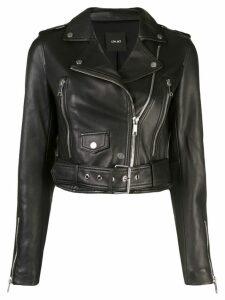 Lth Jkt Mya cropped biker jacket - Black