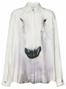 Burberry Unicorn Print Silk Shirt - Grey