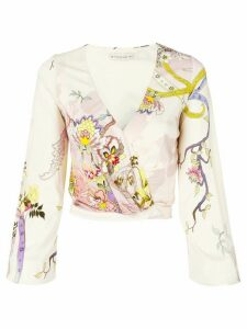 Etro wrapped front blouse - Pink