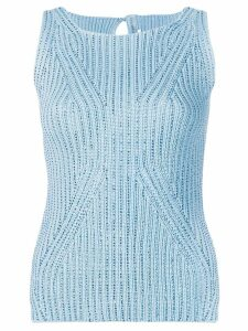 Ermanno Scervino sequin adorned vest top - Blue