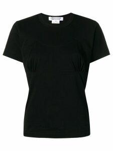 Comme Des Garçons Comme Des Garçons gathered front detail T-shirt -