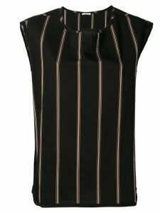 Barena striped top - Black