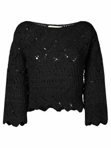 Oneonone crochet blouse - Black