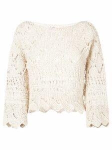 Oneonone crochet blouse - NEUTRALS
