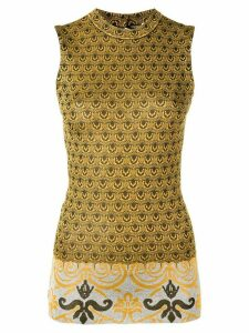 Paco Rabanne sleeveless knitted top - Yellow