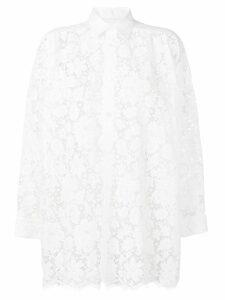 Junya Watanabe lace floral shirt - White