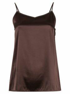 Fabiana Filippi slim-fit camisole top - Brown