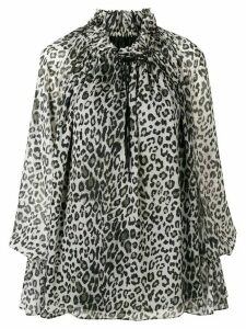 Redemption bell sleeve leopard blouse - Grey