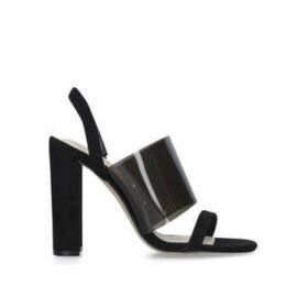 Aldo Galilisa - Black Block Heel Perspex Sandals