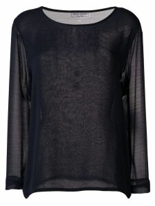 Yves Saint Laurent Pre-Owned 1990's sheer blouse - Blue