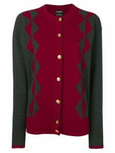 Chanel Pre-Owned two-tone cashmere cardigan - Red