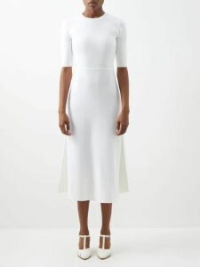 The Row - Ella Gathered Silk-georgette Blouse - Womens - Beige