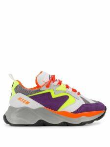 MSGM wedge sneakers - PURPLE