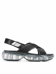 Prada cross strap sandals - Black
