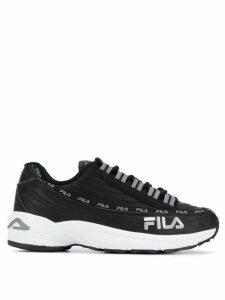 Fila logo print sneakers - Black