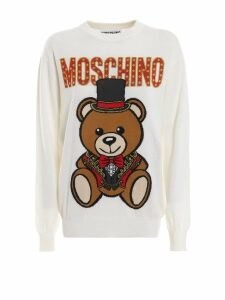Moschino Teddy Circus Off White Wool Sweater