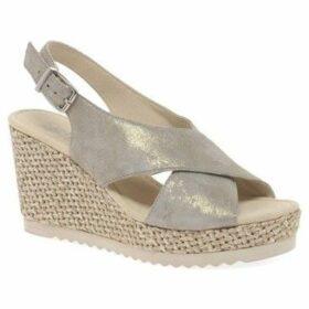 Gabor  Warbler Womens Wedge Heel Sandals  women's Sandals in Gold