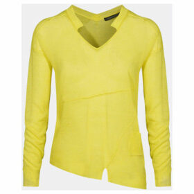 Mado Et Les Autres  Asymmetrical V-neck sweater  women's Sweatshirt in Yellow