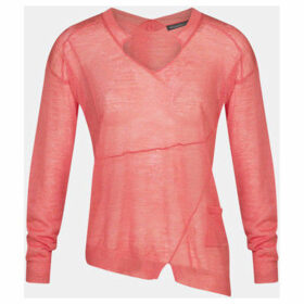 Mado Et Les Autres  Asymmetrical V-neck sweater  women's Sweatshirt in Orange