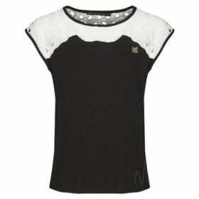 Mado Et Les Autres  Lace crew neck t-shirt  women's Blouse in Black