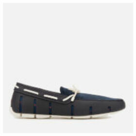 Swims Men's Braided Lace Loafers - Navy/White - UK 6 - Blue