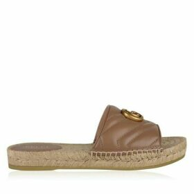 Gucci Leather Espadrille Sandals