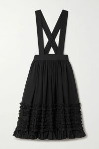 Chloé - Cape-effect Knitted Midi Dress - Brown