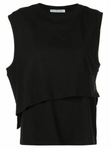 T By Alexander Wang twisted layered tank top - Black