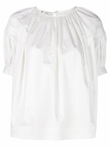Co loose fit gathered blouse - White
