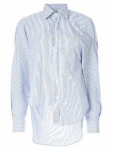 Enföld fused striped shirt - White