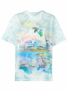 Stella McCartney dolphin print T-shirt - Blue