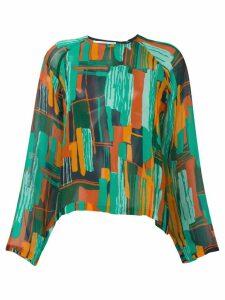 Roseanna semi sheer printed blouse - Green
