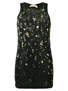 Nº21 embellished slim-fit tank top - Black