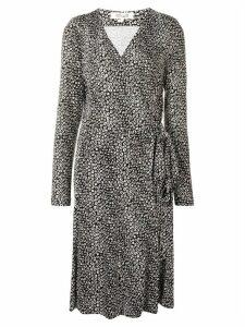 Diane von Furstenberg printed wrap-front midi dress - Black