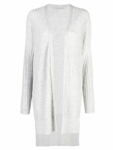 Dusan ribbed knit longline cardigan - Grey