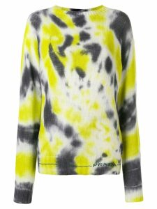 Prada tie-dye knitted sweater - Black