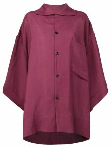Golden Goose oversized button-up shirt - PURPLE