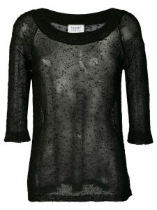 Snobby Sheep sheer structured sweater - Black