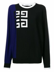 Givenchy contrast logo jumper - Black