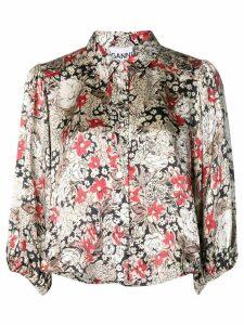 Ganni floral blouse - NEUTRALS