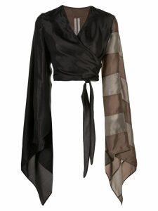 Rick Owens wrap style blouse - Grey