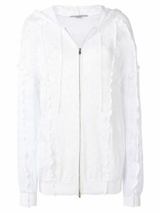 Stella McCartney lace zip-up hoodie - White