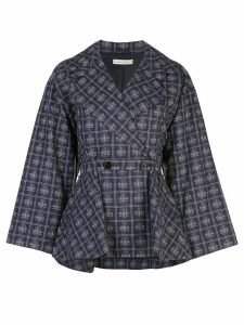 Palmer / Harding check peplum jacket - Blue