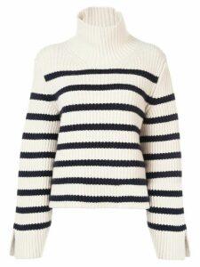 Khaite striped cashmere jumper - White