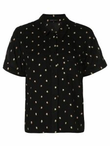 Morgan Lane printed button shirt - Black