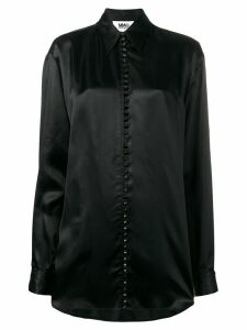 Mm6 Maison Margiela oversized slogan shirt - Black