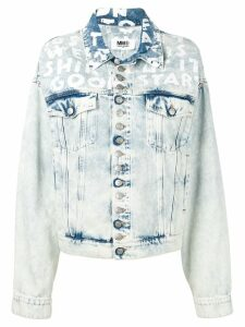 Mm6 Maison Margiela printed denim jacket - Blue
