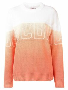 Gcds knitted gradient dye jumper - Orange