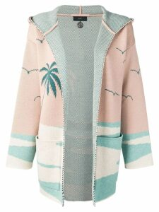 Alanui tropical hooded cardigan - Pink