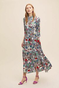 Kanna Jini Raffia-Trimmed Suede Heels - Blue, Size 39